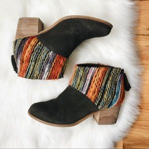 TOMS Leila Suede and Yarn Bootie 9